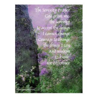 Postal Árbol y lilas del rezo de la serenidad