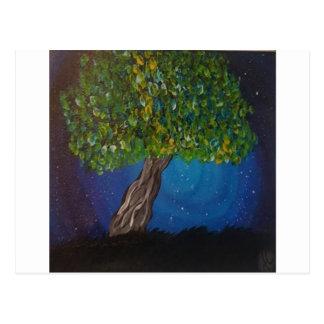 Postal árbol y tierra