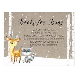Postal Arbolado del invierno - libros para el bebé