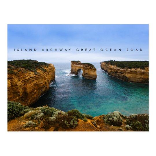 Postal Arcada en el gran camino del océano, Australia de