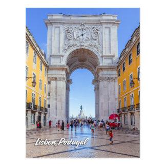 Postal Arco de Rua Augusta en Lisboa