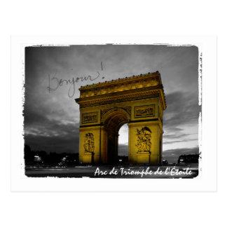 Postal Arco del Triunfo de París l'Étoile Francia