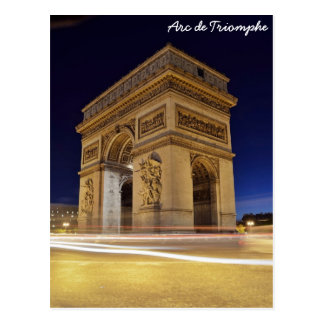 Postal Arco del Triunfo, París, Francia