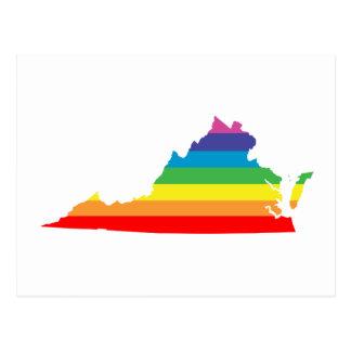Postal arco iris de Virginia