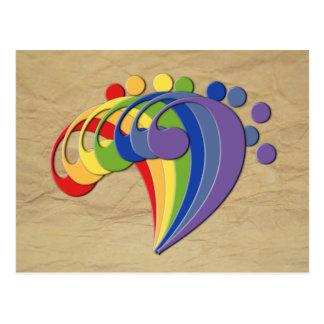 Postal Arco iris del bajo de la fan