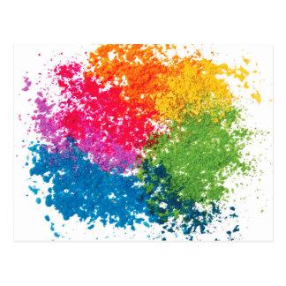 Postal Arco iris del polvo del color