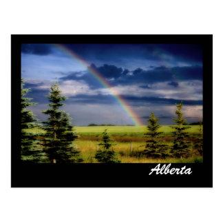 Postal Arco iris en las praderas