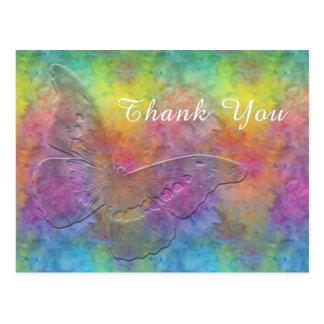 Postal [Arco iris Frost] teñido anudado multicolor con la