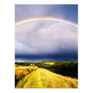 Postal Arco iris sobre el río Dee