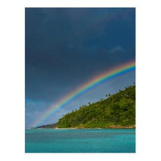 Postal Arco iris sobre la isla, American Samoa