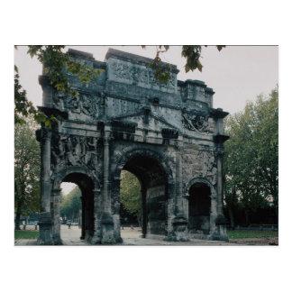Postal Arco triunfal, cara norte, naranja, Francia