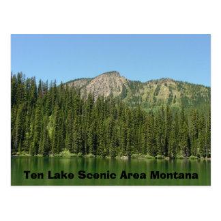 Postal Área escénica de diez lagos