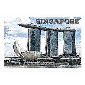 Postal Arenas de la bahía del puerto deportivo - Singapur