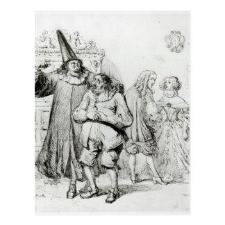 Postal Argan y Monsieur Purgon