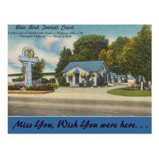 Postal Arkansas, corte turística del pájaro azul