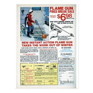 Postal Arma de llama para el invierno