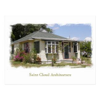 Postal Arquitectura de la nube del santo