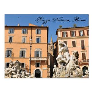 Postal Arquitectura italiana en la plaza Navona, Roma,