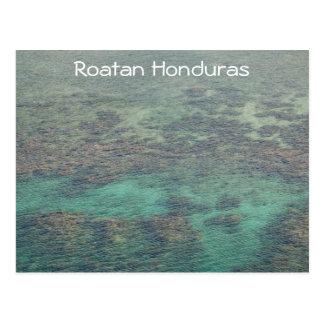 Postal Arrecife de coral de Haunduras