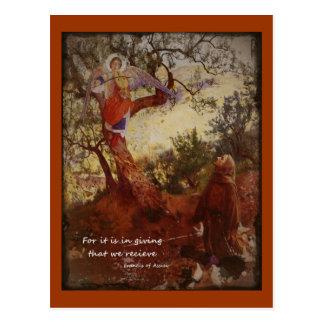 Postal Arrodillamiento de los Franciscos de Asís