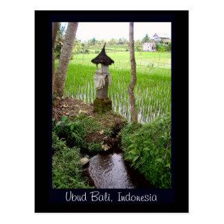 Postal Arroz de arroz, templo, Ubud Bali, Indonesia