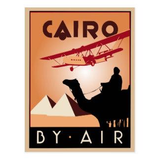 Postal Art déco del viaje de Egipto del vintage