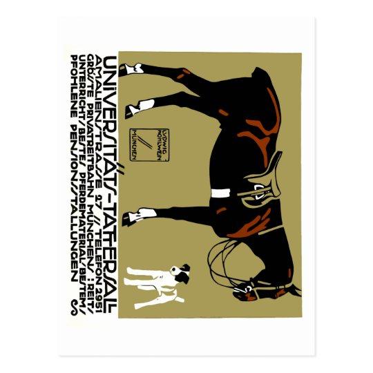 Postal Arte 1912 del poster del montar a caballo de Luis