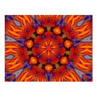 Postal Arte 726 del caleidoscopio del fractal