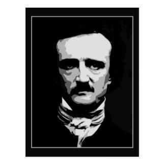 Postal Arte blanco y negro del vector, Edgar Allan Poe