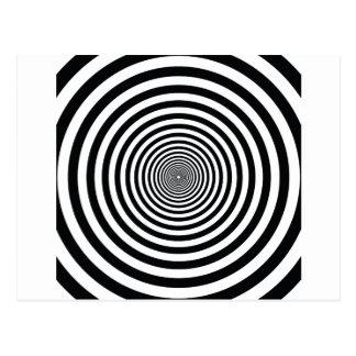 Postal arte blanco y negro vo1 del círculo de la ilusión