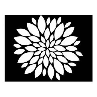 Postal Arte bonito de los pétalos de la flor blanca en