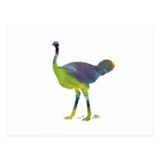 Postal Arte de la avestruz