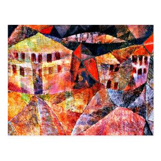Postal Arte de Paul Klee: El hotel, pintura famosa por