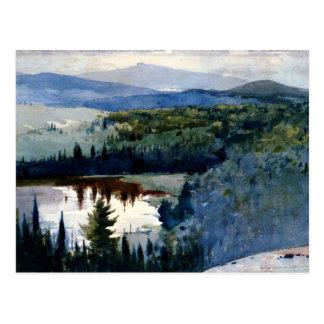 Postal Arte de Winslow Homer, pueblo indio, Adirondacks
