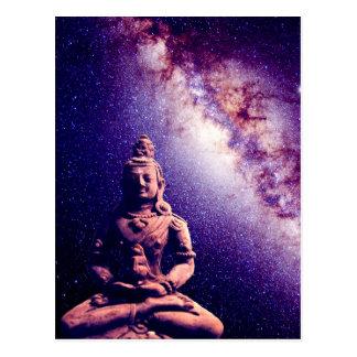 Postal Arte del amor de la paz del espacio de la galaxia