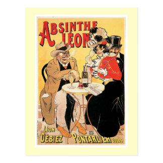 Postal Arte del anuncio de la bebida del vino del vintage
