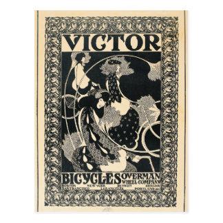 Postal Arte del anuncio de la bicicleta de Nouveau del