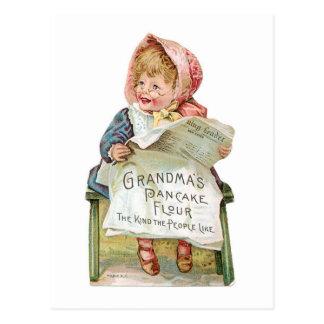 Postal Arte del anuncio de la comida del vintage de la