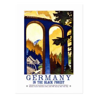 Postal Arte del bosque negro de Alemania del vintage