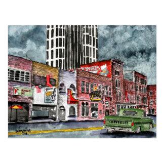 Postal arte del capital de la música country de Nashville