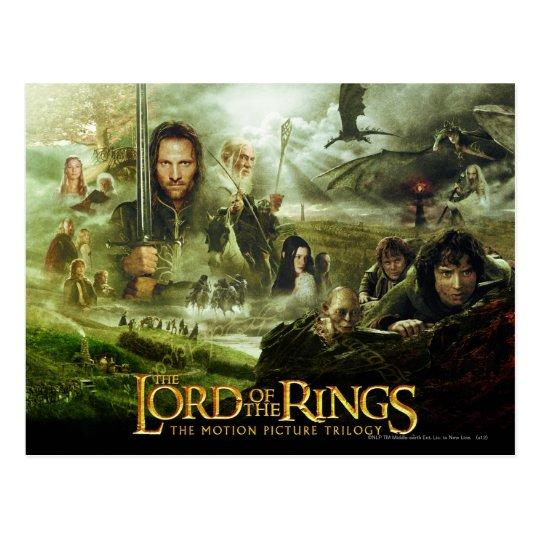 Postal Arte del cartel de película de LOTR