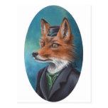 Postal Arte del Fox de Sr. Fox Postcard Animal Postcard
