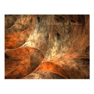 Postal Arte del fractal de las riquezas del otoño
