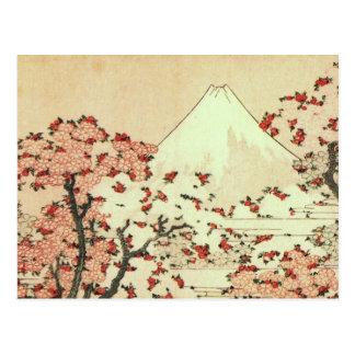 Postal Arte del japonés de Hokusai el monte Fuji