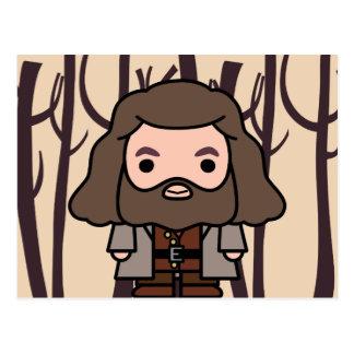 Postal Arte del personaje de dibujos animados de Hagrid