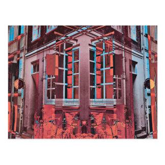 Postal Arte digital de Copenhague de la reflexión azul