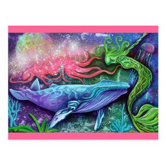 Postal Arte encantado del océano