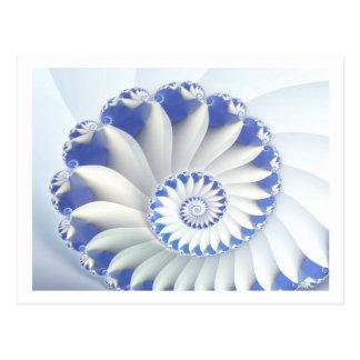 Postal Arte fino hermoso del fractal de Shell del mar