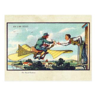 Postal Arte futurista del color de las máquinas de vuelo