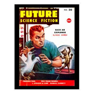 Postal Arte futuro del _Pulp de septiembre de 1956